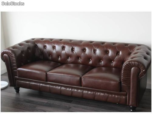 Sofas chester chester sofas compact sofa brown leather for Sofa tipo chester barato