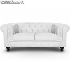 Sofa Chester Brooklym blanco 2 plazas