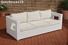 Sofa de 3 piezas Honolulu blanco