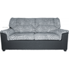 Sofa Eko 3 plazas gris estampado