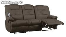 sofa massagem Venecia 2-3 plazas Marron chocolate