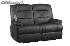 sofa massagem Venecia 2-3 plazas Negro