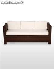 Sofa / Sillon UDINE 3 plazas marron