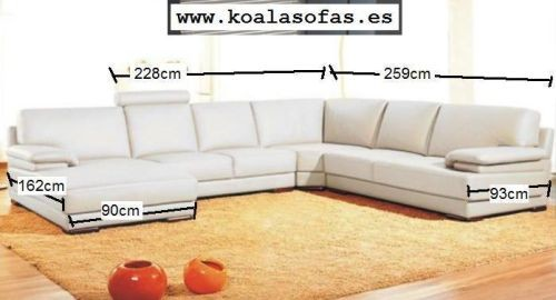 Sofas rinconeras de piel modelo 2227 for Cheslong baratos madrid