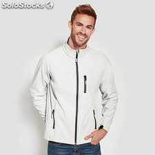 Soft shell Hombre antartida homem branco pérola. t: s casual collection invierno