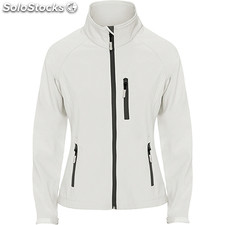 Soft shell Mujer m blanco perla casual collection invierno