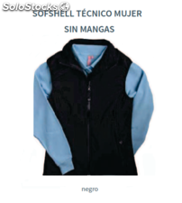Softshell Técnico Mujer - Sin Mangas - Térmico - Impermeable - Color Negro