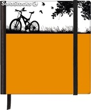 Softtouch Silhouettes Notebook Pocket Square Bike