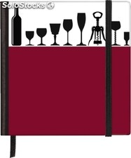 Softtouch Silhouettes Notebook Pocket Square Wine