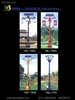 Solar street lights 60w Scenery complementary lights.