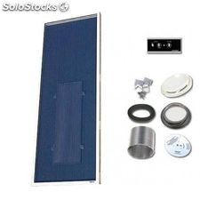 Solarventi sv14 negro kit de montaje en pared y regulador 1 incluido