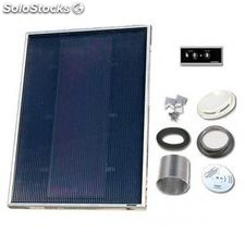 Solarventi sv7 negro kit de montaje en pared y regulador 1 incluido