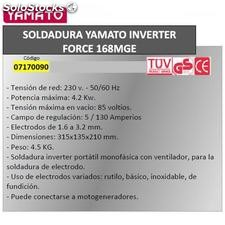 Soldadura Inverter Force 168 MGE 140 A.