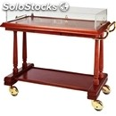 Solid wood catering trolley - mod. ldf1 - veneered solid wood structure and