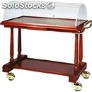 Solid wood catering trolley - mod. ldf2 - veneered solid wood structure and
