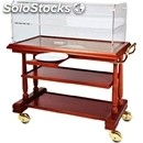 Solid wood catering trolley - mod. ldf3 - veneered solid wood structure and