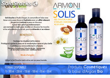 Solis / gel douche a base d'argan camomille et aloe vera