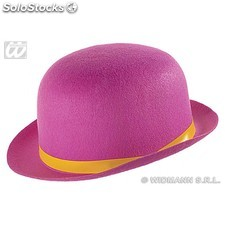 Sombrero de colores con lazo color rosa