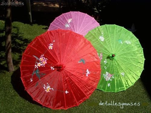 Sombrilla China De Tela En Colores Parasoles Para Boda Baratos - Sombrilla-china