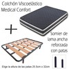 Somier lama ancha + patas + colchón medical confort