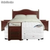 Sommiers cic Box Spring 2 pl. base dividida Ortopedic + Textil + Cómoda y Muebles Diplomat