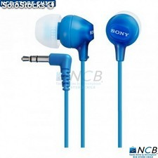 Sony Audifono Ex15Lp Color Azul C/Tapones Silicona 3.5Mm