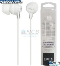 Sony Audifono Ex15Lp Color Blanco C/Tapones Silicona 3.5Mm