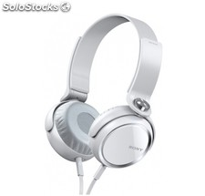 Sony mdr-XB400 Blancos, Auriculares Stereo plegables extrabass