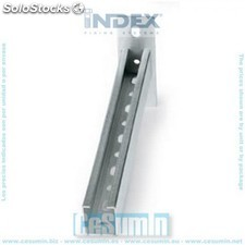 Soporte de pared 38 x 40 x 200 zincado - INDEX - Ref:SPZ384020