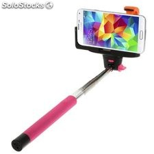 Soporte extensible selfie bluetooth con disparador para telefonos moviles y