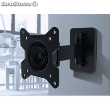 "Soporte TV pared orientable GISAN AX-110 hasta 24"" 1 brazo acero"