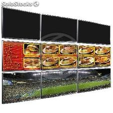 Soporte TV videowall horizontal a pared de 86cm (OS53)