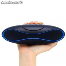 Speaker Portatile Bluetooth Wireless Rugby MicroSD Nero/Blu