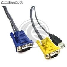 Special Cable 2 in 1 vga/usb 1.8m (HD15M/HD15M + am) (CC71)