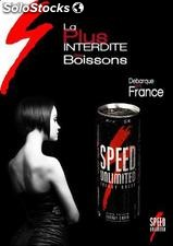 Speed Unlimited energy drink boisson energisante taurine