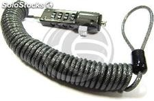 Spiral Notebook Computer Cable Lock (Combination 4 digits) (SG14)