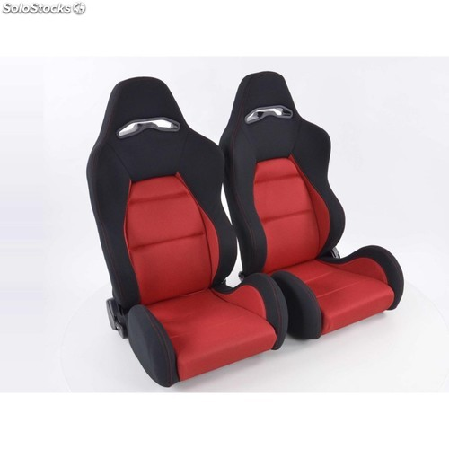 Sportseat set edition 3 fabric red /black