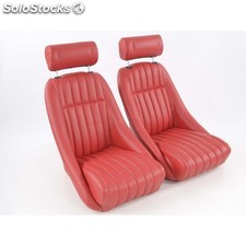 Sportseat set montgomery artificial leather red /