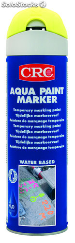 Spray aqua paint marker amarillo fluor 500 ml
