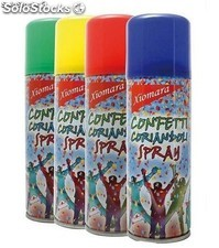 Spray confetti colores surtidos