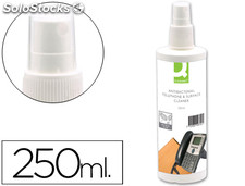 Spray q-connect para limpiar telefonos y superficies contenido 250 ml
