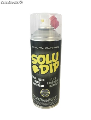 Spray vinilo liquido amarillo fluor-luminiscente