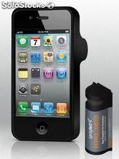 Spraytect cover de cellular iphone 4/4s con cartucho de gas pimienta removible