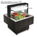 Square bain marie buffet counter - mod. bologna luxus isola quadra bm - wooden