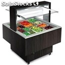 Square refrigerated buffet counter with deep pan tops - mod. bologna luxus