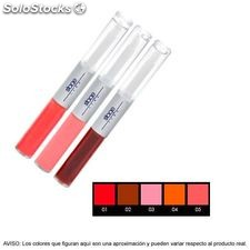 Stage Line - H-FIX. Color permanente labios, colorete y sombras - 2x4,5ml