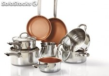 Stainless Steel and Copper Cookware Set - Brand New Stock