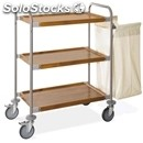 Stainless steel dirty laundry trolley - mod. portabiancheria 4402 - n. 3 shelves