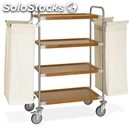 Stainless steel dirty laundry trolley - mod. portabiancheria 4404 - n. 4 shelves