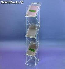 Stand Brochure Holder stairs - clear plexiglas